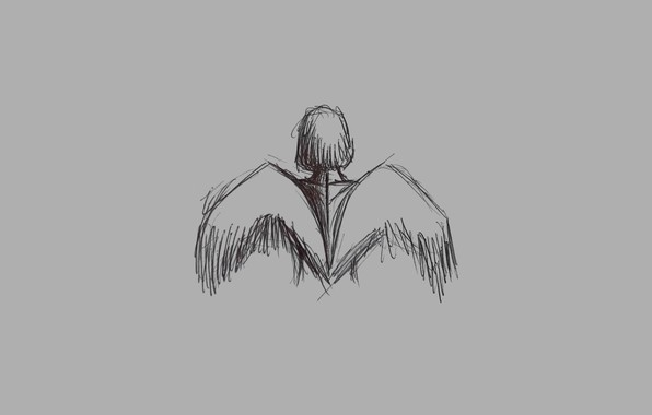 Picture sadness, loneliness, sadness, despair, wings, angel, angel