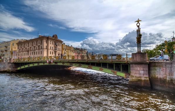 Picture the sky, bridge, view, Saint Petersburg, channel