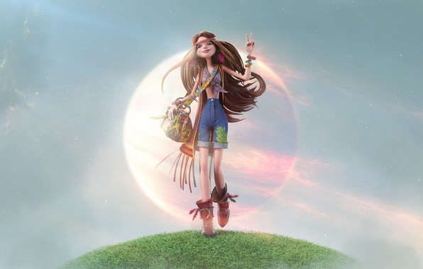 Picture girl, style, hippie, art, Hippie !, Figure Khamosh