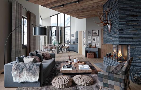 Picture Villa, interior, living space, Alpenrose