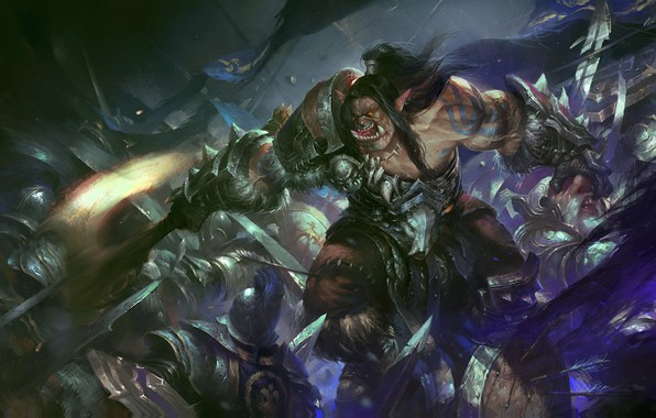 Picture the game, art, fantasy, wenjun lin, Lordaeron The Foremath, For the horde