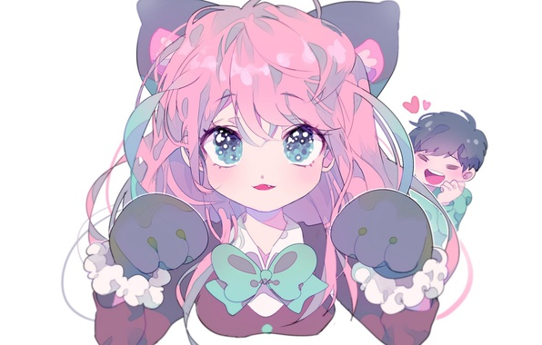 neko girl with pink hair wwwpixsharkcom images