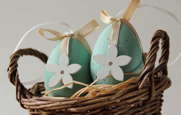 Picture holiday, basket, eggs, Easter, decor