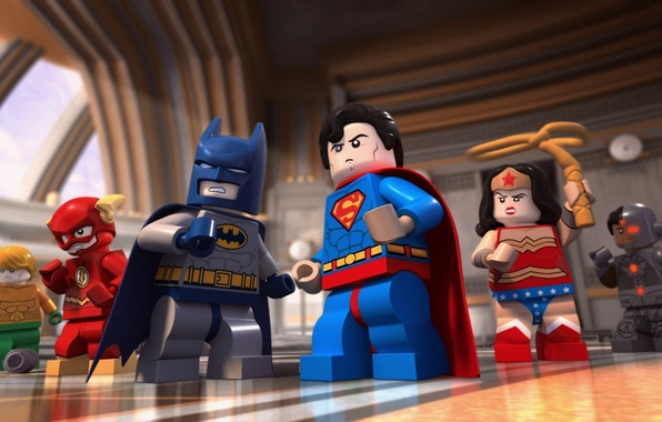 Picture Wonder Woman, Batman, bat, Lego, Superman, hero, mask, DC Comics, Cyborg, Aquaman, yuusha, super hero, …