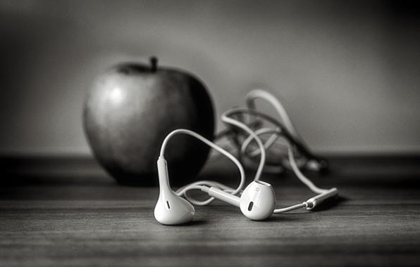 Picture Apple, headphones, iphone, b-b, ,, ☊