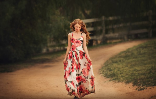 Picture road, style, girl