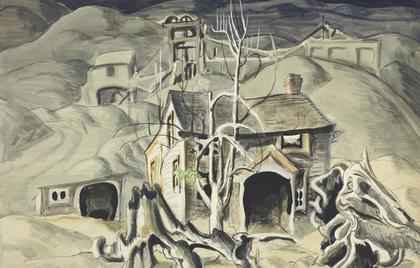 Picture 1918, Charles Ephraim Burchfield, legionarism, Deserted Miner's Home