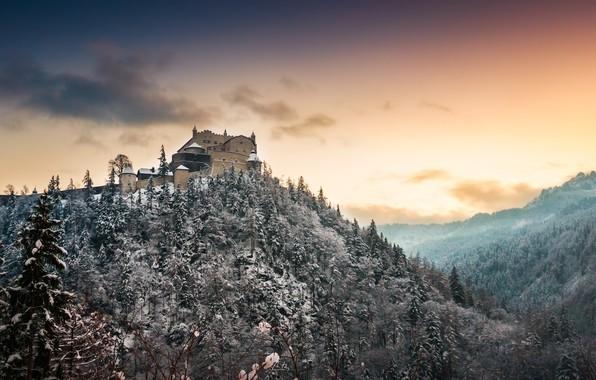 Picture winter, castle, mountain