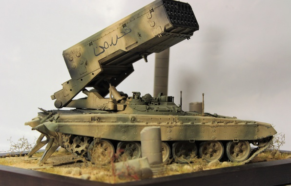 Picture toy, model, Syrian Arab Republic, TOS 1-A, Opposition