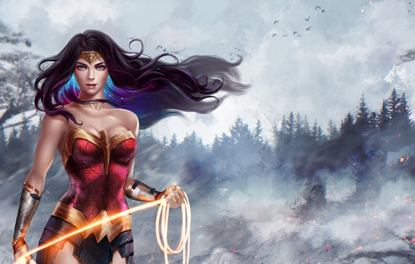 Photo wallpaper Wonder Woman, DC Comics, Diana, Diana, Wonder woman, Amazon