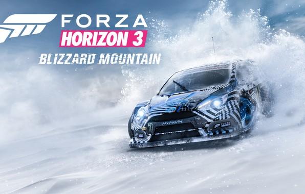 Picture snow, car, Forza Horizon 3, Blizzard mountain iD