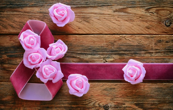 Picture roses, March 8, wood, pink, flowers, romantic, gift, roses