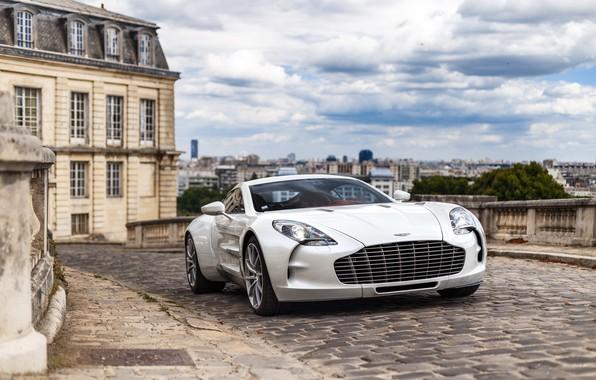 Picture Aston Martin, white, england, one 77