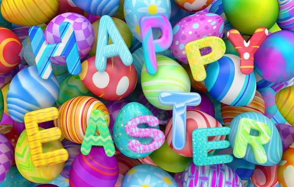 Picture graphics, eggs, colorful, Easter, happy, holidays, design, Easter, eggs