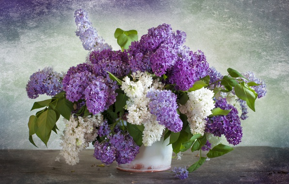 Picture bouquet, lilac, bunches