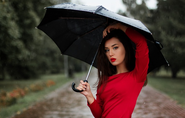 photo of girls with umbrellas № 22142