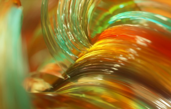 Picture glass, macro, line, paint, the volume