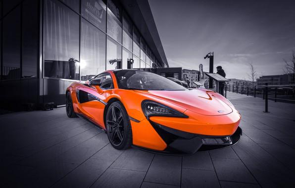 Picture orange, sports car, McLaren 570S