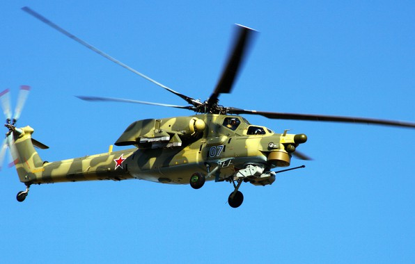 Picture The sky, Helicopter, Army, Russia, Aviation, BBC, Mi-28N, The spoiler, Night hunter, The Russian air …
