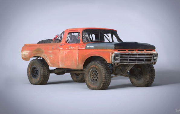 Picture SUV, car, Ford F100, Trophy Rat