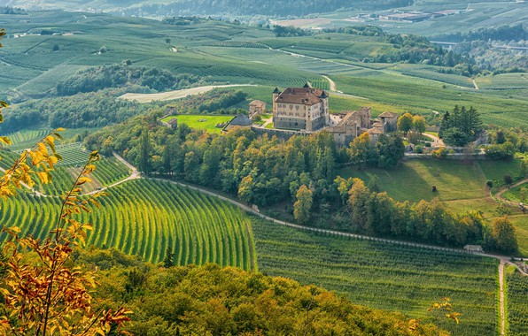 Picture castle, Italy, Trentino-Alto Adige, Ital, Castel Thun, Ton