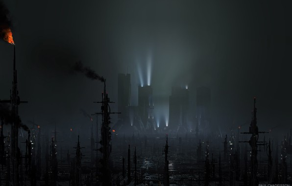 Wallpaper torch, megapolis, could, BLADE RUNNER 2049, Black Out 2022