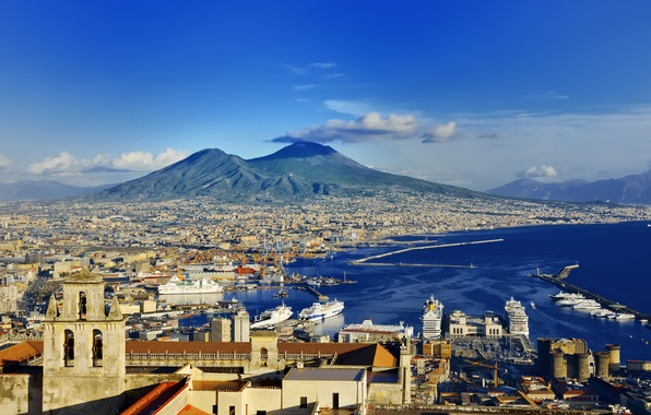 Picture city, the city, Italy, Italy, coast, panorama, Europe, view, cityscape, Naples, Naples, travel
