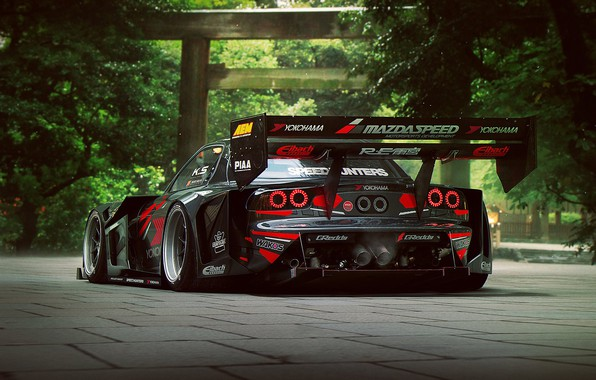 Picture Mazda, RX-7, Time, Attack, Rear, by Khyzyl Saleem