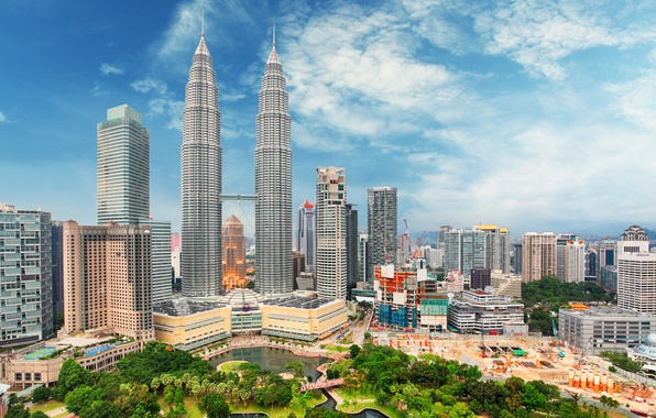 Wallpaper skyscrapers kuala lumpur the city home the for Home wallpaper kl