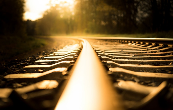 Picture light, background, rails, railroad