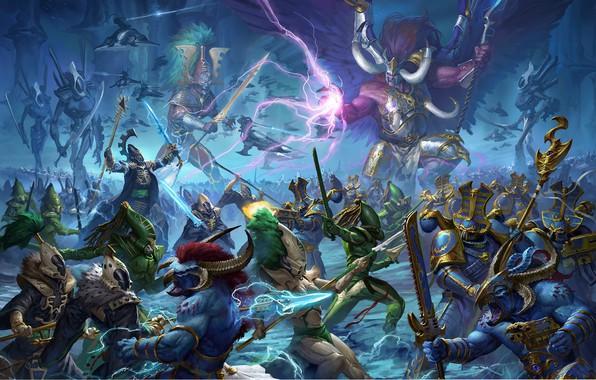 Picture demon, avatar, chaos, space marine, eldar, prince, Warhammer 40 000, Tzeentch, w40k, primarch, Thousand Sons, …