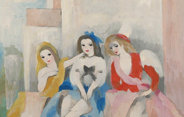 Picture 1942, the house, Modern, Marie Laurencin, Three women