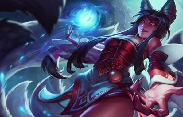 Picture girl, Game, ears, League of legends, Multiplayer
