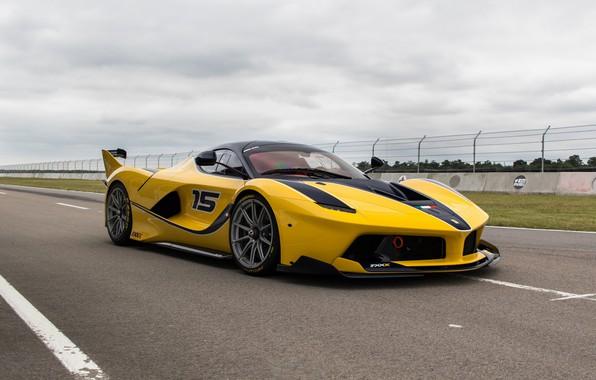 Picture Ferrari, Yellow, Sport, FXXK