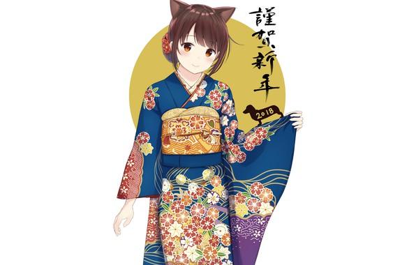 Picture girl, anime, yukata