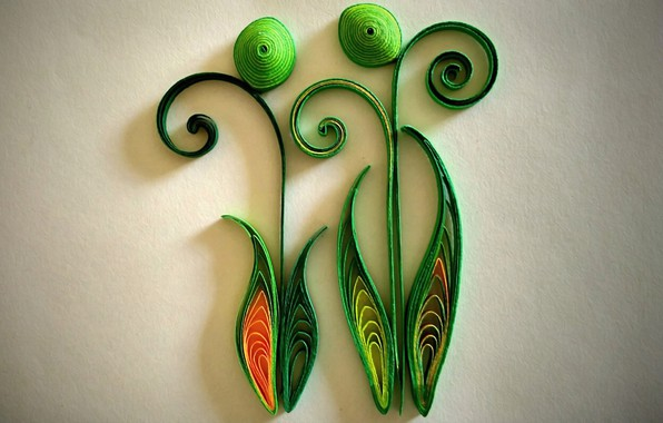 Picture light, style, background, fantasy, curls, texture, shadows, colored paper, quilling, paper art