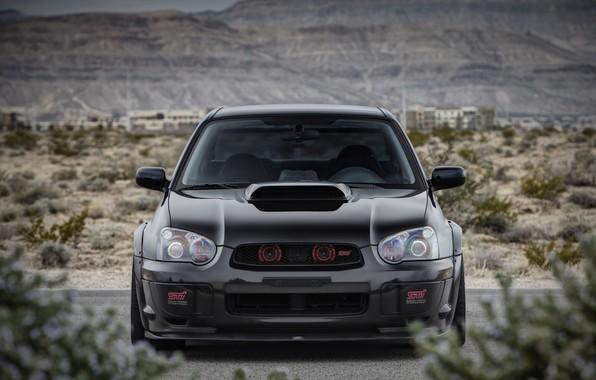 Picture Subaru, Impreza, WRX, STI, Front, Black