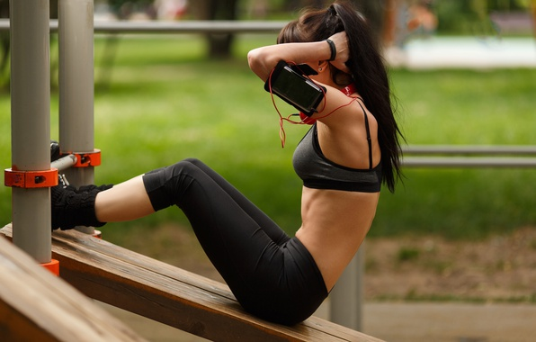 Picture park, female, workout, fitness, abs