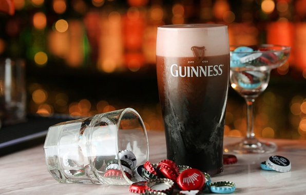 Picture glass, beer, drink, Guinness