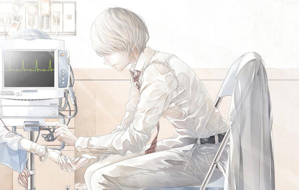 Picture hand, medallion, hospital, guy, bouno satoshi