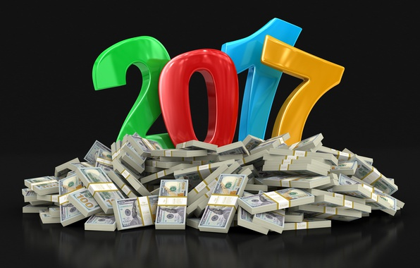 Picture the dark background, background, holiday, graphics, new year, mountain, money, figures, symbol, dollars, wish, colorful, …