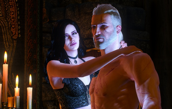 Picture Geralt of Rivia, the Witcher 3: wild hunt, the witcher 3, yennefer of vengerberg