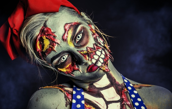Picture girl, zombie, make up