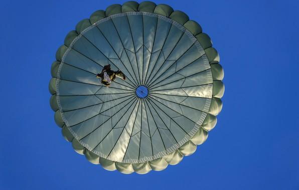Picture the sky, jump, parachutist