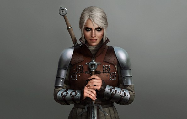 Picture Cirilla, armor, sword, girl, the Witcher, The Witcher 3 Wild Hunt, Ciri