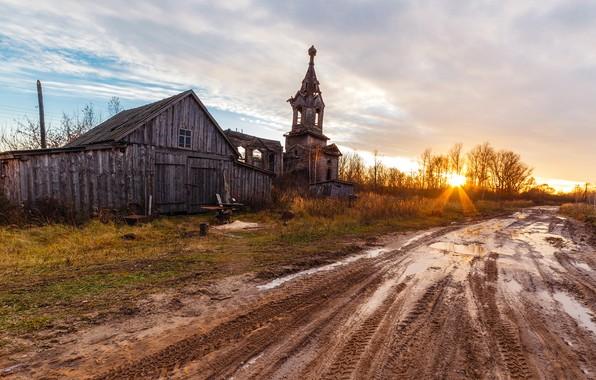 Picture village, Church, Morshansk district, Aldia, Tambov oblast