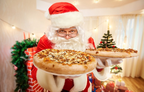 Picture holiday, Christmas, New year, pizza, cakes