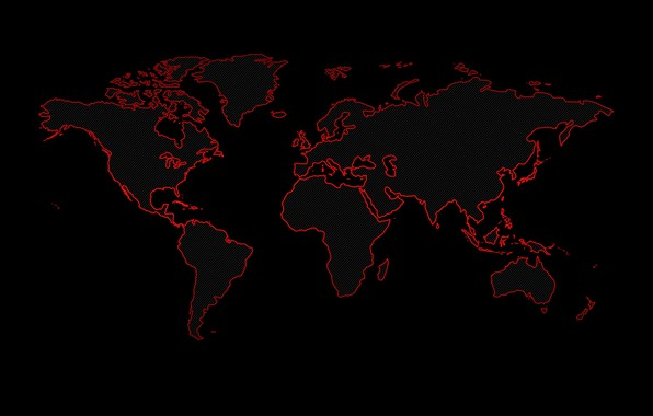 Picture earth, the world, continents, black background, world map