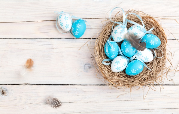 Picture spring, Easter, socket, basket, wood, spring, Easter, eggs, decoration, Happy, the painted eggs