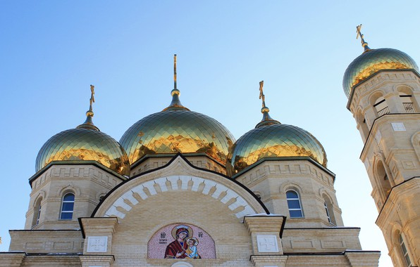 Picture Eagle, Temple, Russia, The Golden domes, Vyatskiy Posad, Church Of The Presentation Of The Lord, …